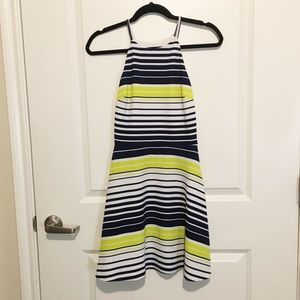 Love...Ady Navy, White and Yellow Striped Dress